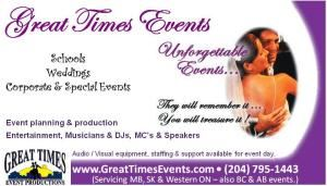 Great Times Events - Portage la Prairie
